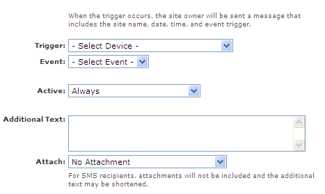Setting up Text and Email Alerts ADD Alert
