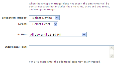 Setting up Text and Email Alerts Exception Alert