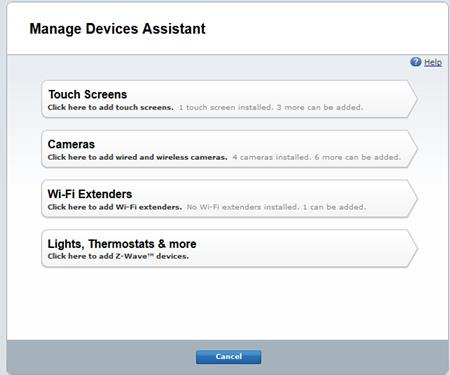 ADT Pulse Lighting Manage Devices