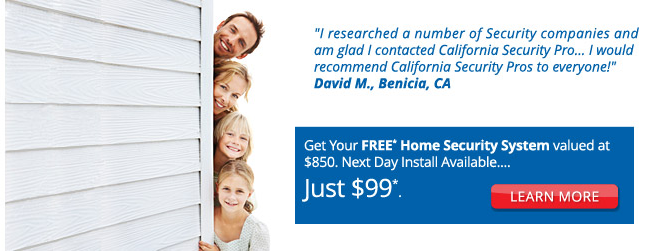Get Your FREE* Home Security System valued at $850. Next Day Install Available.... Just $99*.