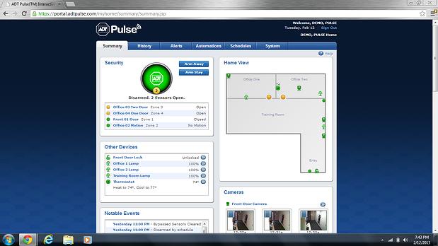 ADT Pulse Web Portal