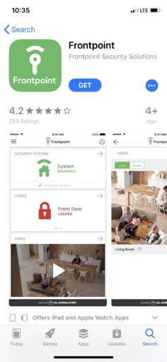 FrontPoint Security Solutions App 4.2 Rating