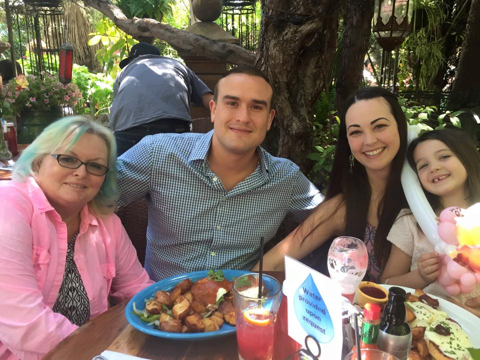 Jarrett and Family at Tower Cafe