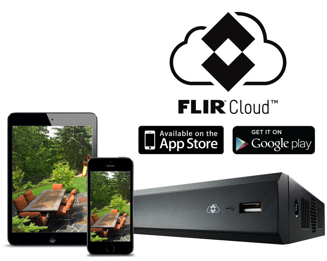 Security Camera System Mobile App for Flir Cameras. Available at Apple Store and Google Play