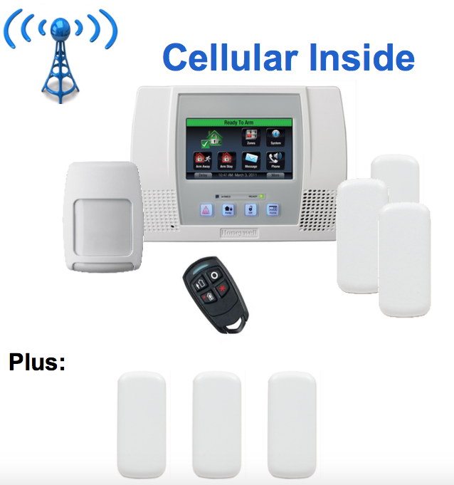 ADT Free Home Security System Package with Honeywell Lynx Touch L5000