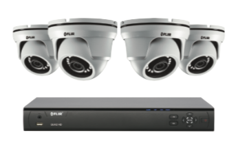 4MP Security Cameras - CCTV video surveillance 4 camera package with Flir DVR