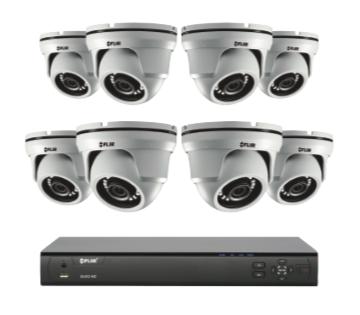4MP Security Cameras - CCTV video surveillance 4 camera package with Flir DVR 2TB