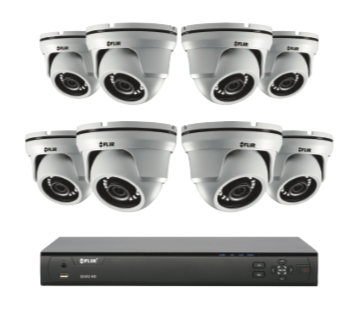 4MP Security Cameras - CCTV video surveillance 4 camera package with Flir DVR 2TB