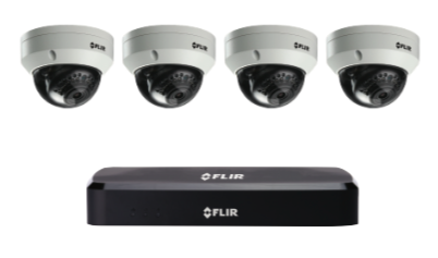 4K Security Cameras (8MP) - CCTV video surveillance 4 camera package with Flir NVR 2TB