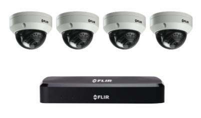 4K Security Cameras (8MP) - CCTV video surveillance 4 camera package with Flir NVR 2TB