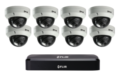 4K Security Cameras (8MP) - CCTV video surveillance 8 camera package with Flir NVR 3TB