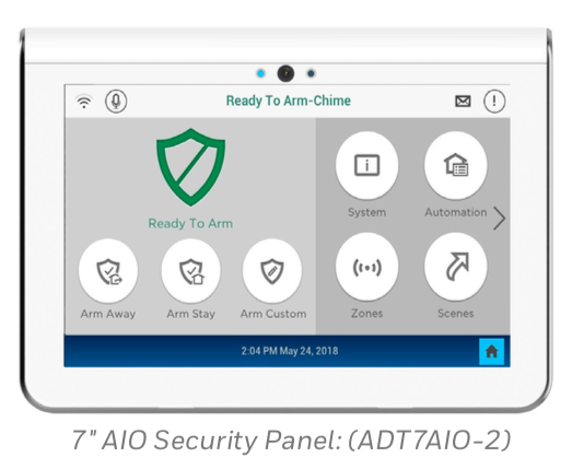 """ADT Command and Control 7"""" All-In-One Touchscreen"""