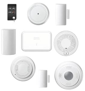 ADT Command SiX Sensors: door/window contacts, motions, glassbreaks, keyfobs, shock sensors, indoor siren, combo smoke/CO, smoke detector and wired to wireless convertor