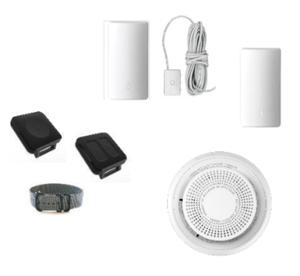 ADT Command SiX Sensors: Panic button, Medical panic button, outdoor siren, flood detector and temperature sensor