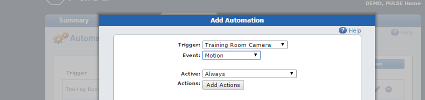 Automations tab triggers