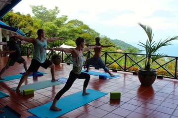 Jarrett Yoga Pose in Costa Rica