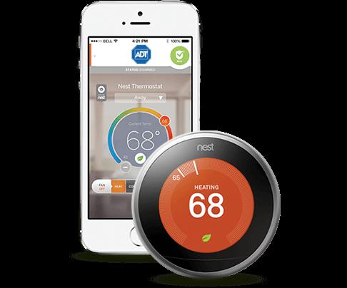 ADT Pulse App Controls Nest Thermostat