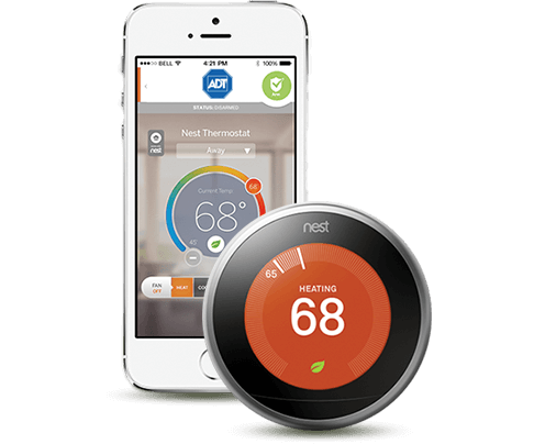 ADT Pulse App Controls Nest Thermostat