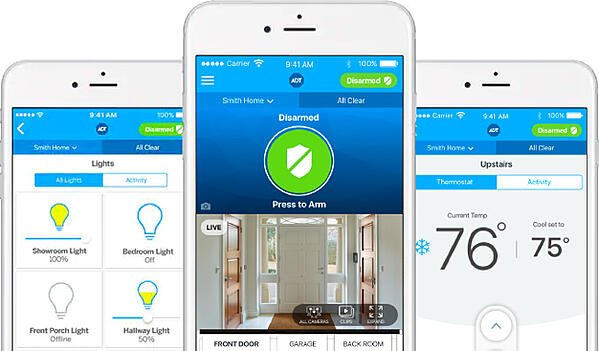 ADT Pulse App with Voice Commands for Home Automation