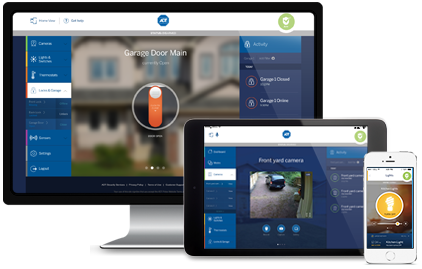 ADT Pulse App with Remote Interactive Services and Voice Control