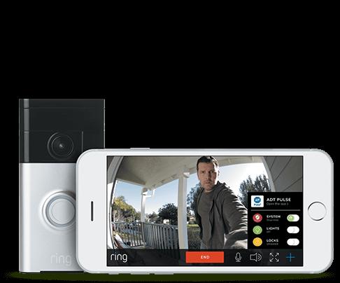 ADT Pulse Controls Ring Doorbell