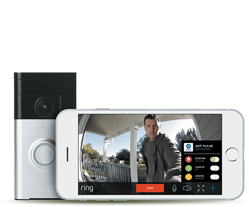 ADT Pulse Controls Ring Doorbell