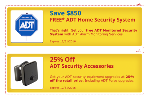 ADT Coupons and ADT Special Offers on Home Security Equipment