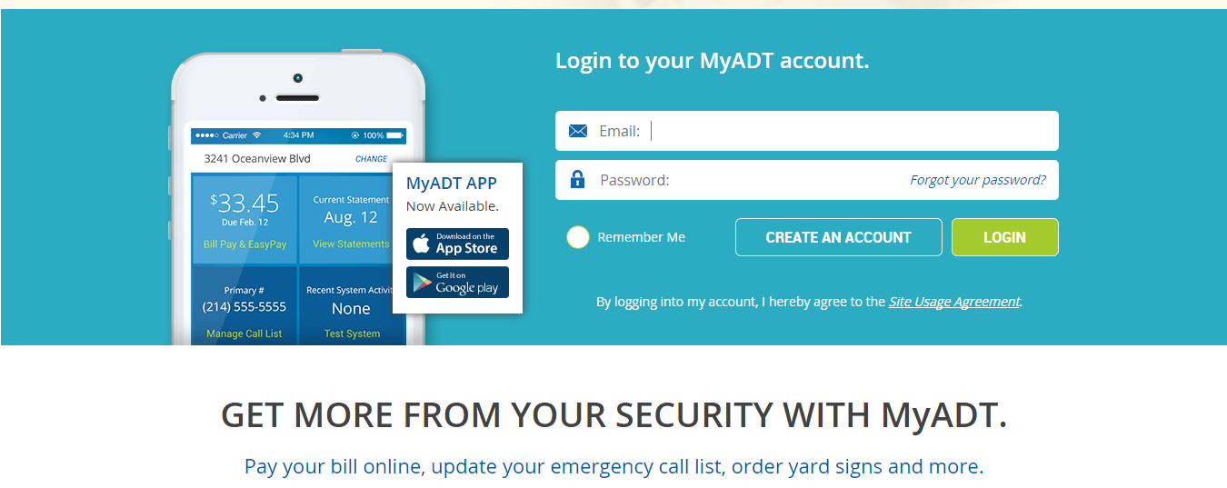 how-to set up myADT.com account for adt pulse or standard adt security systems